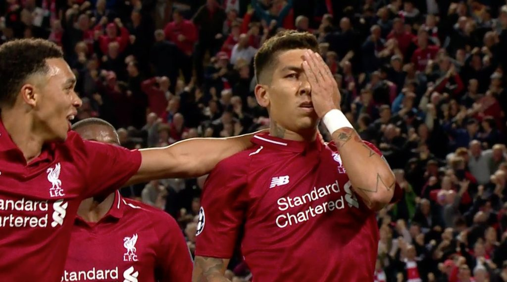 Firmino eye celebration v PSG