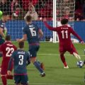 Mo Salah scores against Red Star Belgrade