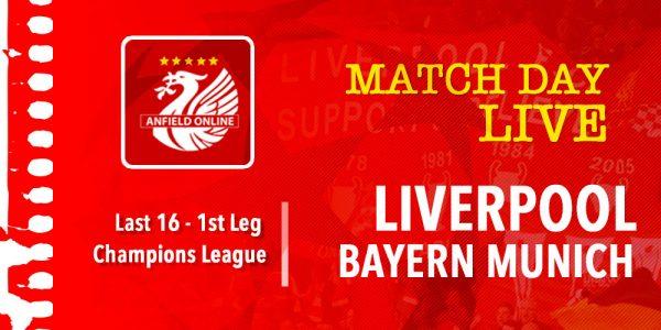 LIVE Liverpool vs Bayern Munich