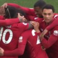 Firmino celebrates Spurs goal