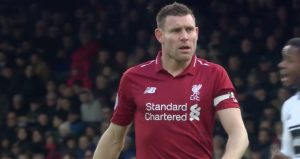 James Milner steps up for the penalty