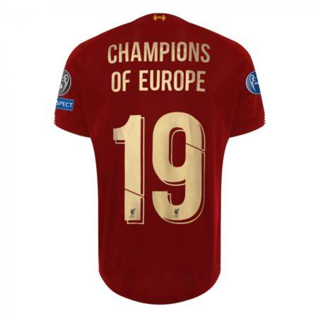 2019 Champions of Europe LFC UEFA Shirt