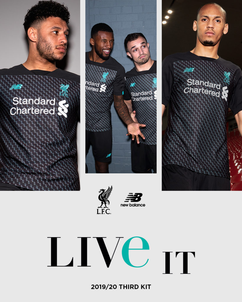 wholesale dealer 29df9 3025b Liverpool release bold 3rd kit for the 2019-20 season ...