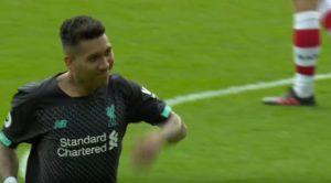 Firmino scores against Southampton
