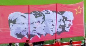 Invincibles flag at Anfield