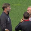 Klopp on the pitch before Lyon game