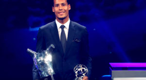 Van Dijk UEFA Player of the Year 2018/19 and Defender of the Year