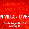 LIVE Aston Villa v Liverpool