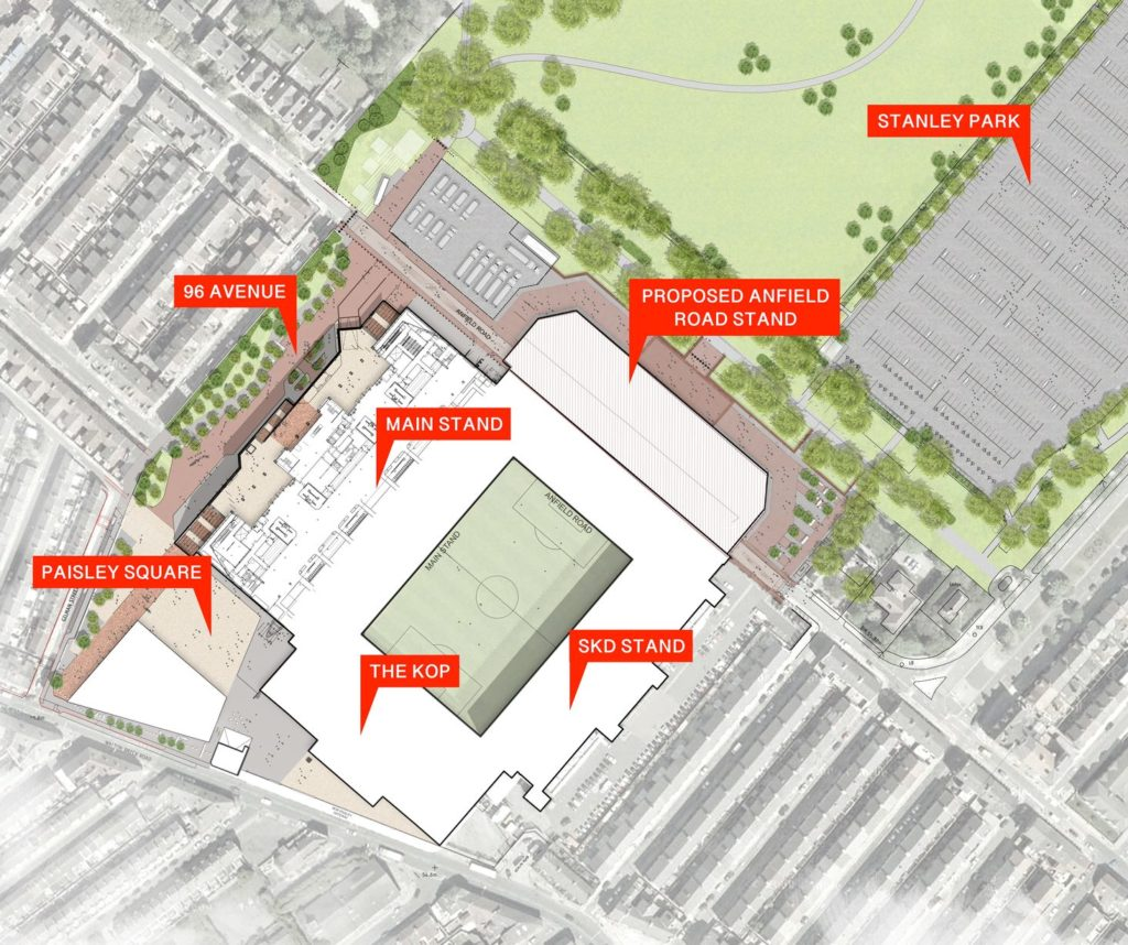 New map plans for Anfield Road expansion