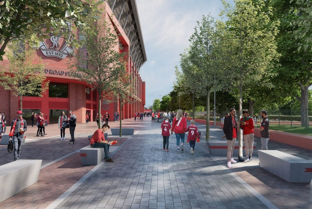 Outside the New Anfield Road