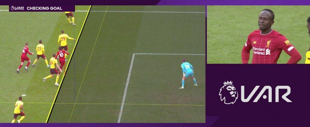 Sadio Mane goal disallowed by VAR