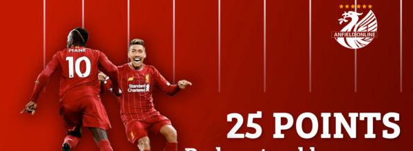 LFC take a commanding 25 point Premier League lead