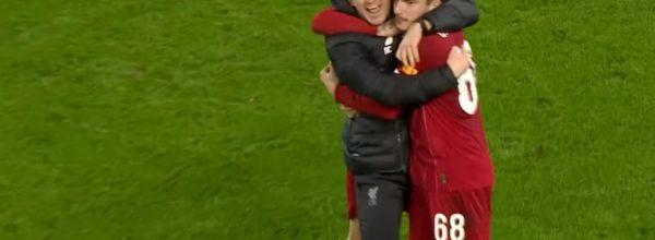 Neil Critchley celebrates Liverpool's win