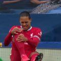 Van Dijk injured by Jordan Pickford
