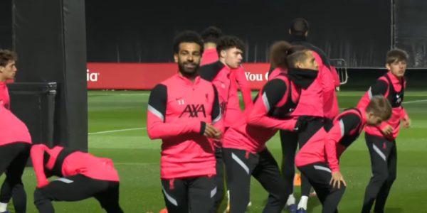 Mo Salah training