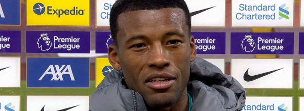 Gini Wijnaldum scores first goal in front of The Kop since fans return to Anfield