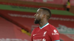 Divock Origi at Anfield v Burnley