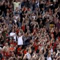 LFC Fans celebrate opening day win at Carrow Road