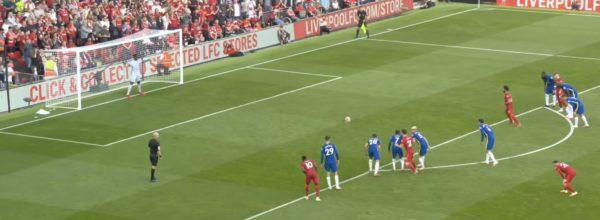 Salah scores a penalty v Chelsea