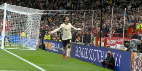 Mo Salah enjoys his hat-trick at Old Trafford